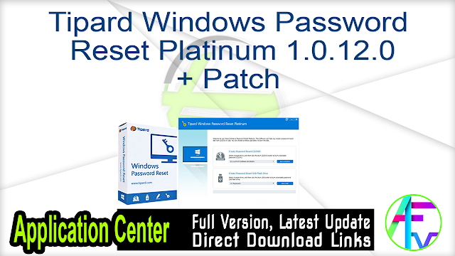 Tipard Windows Password Reset Platinum 1.0.12.0 + Patch