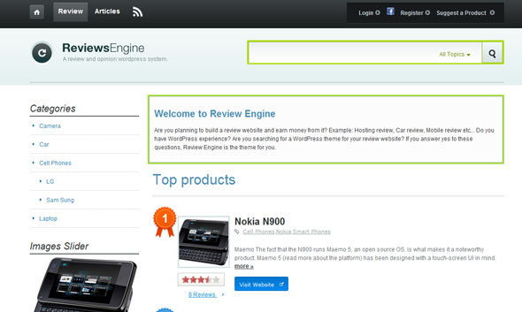 Review Engine v2.0.4.3 Wordpress Theme Free Download by DailyWP.