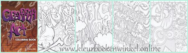 kleurboek graffiti art