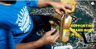 Cara Pasang Penopang Papan Spacer tempat simpan gelas ukur BBM Pertamina