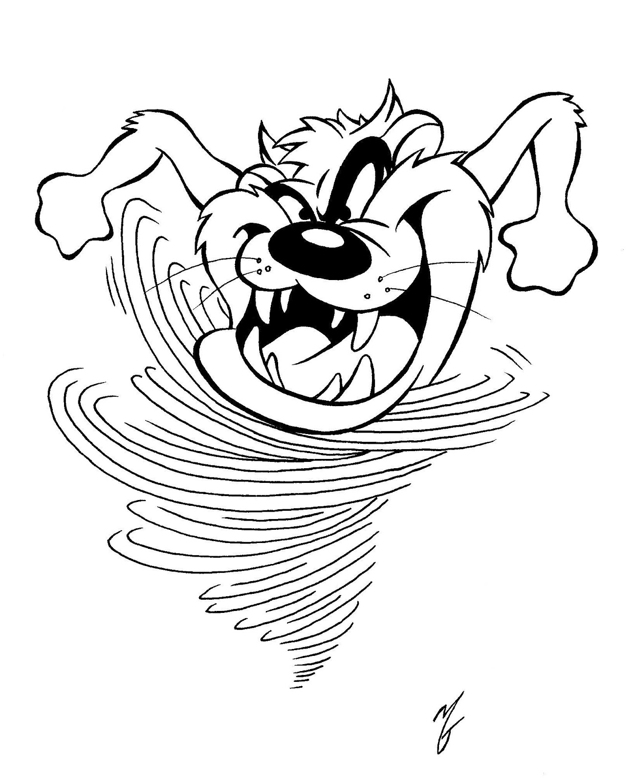 tasmanian devil coloring pages | A view from a Goon: July 2012