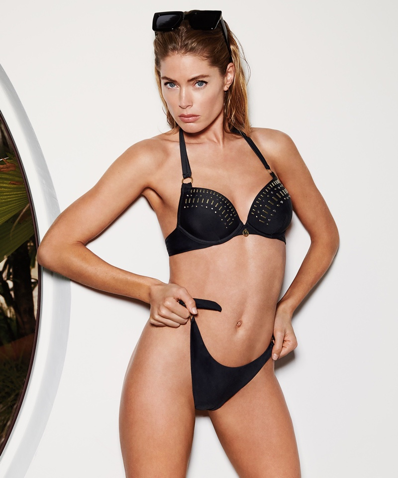 Doutzen Kroes poses in Hunkemoller swimsuit collaboration