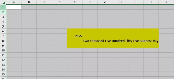 How to Convert Number to Word in Excel - SpellNumber Formula