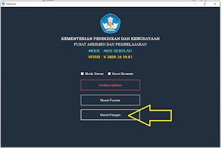 Username Passwport Petugas AKM Kelas