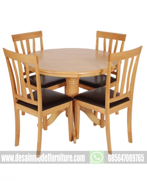 Set kursi makan minimalis kayu jati jepara