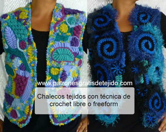 Cómo se teje crochet libre o freeform / Tutorial | Crochet y Dos ...