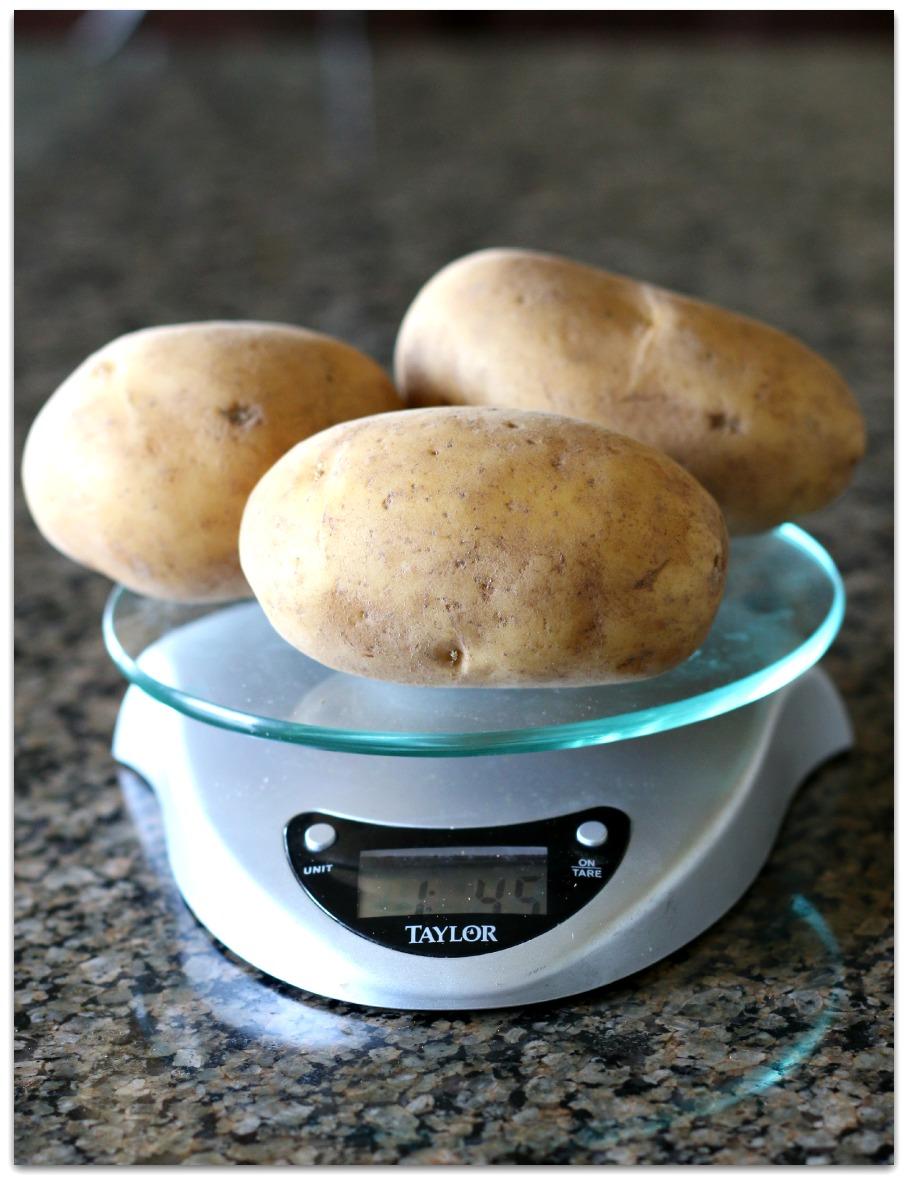 Yellow potatoes for BLT potato salad