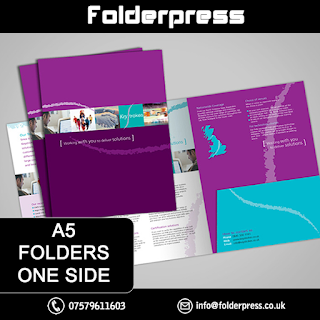 A5 Double Sided Folders printing