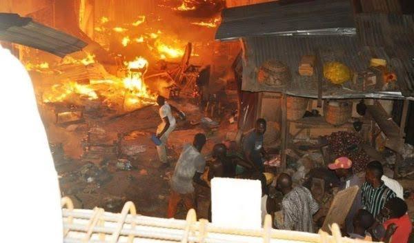 Fire guts popular Mararaba market in Nasarawa [PHOTOS]