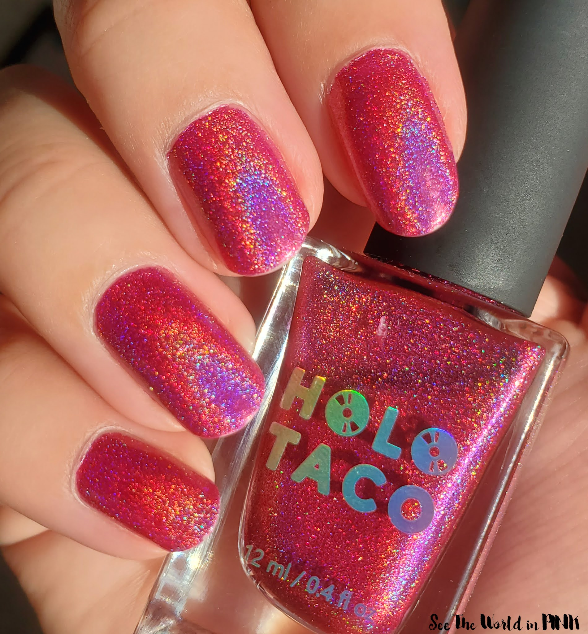 Manicure Monday - Holo Taco Hot-Wire Pink