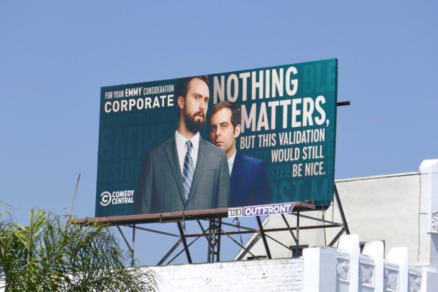 Corporate season 2 Emmy FYC billboard