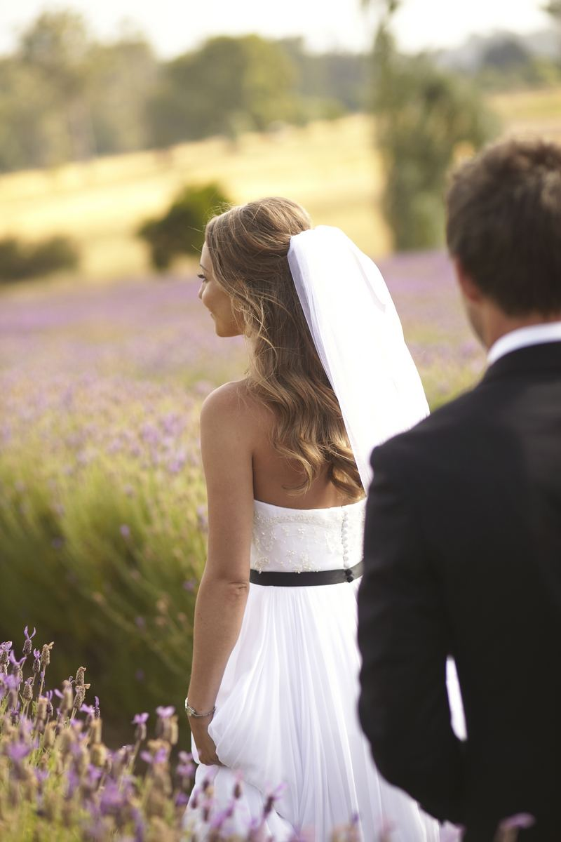 Romantic Wedding in a Lavender Field
