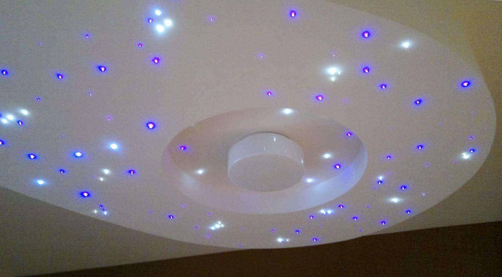 Plafoniere Led Cielo Stellato : Cielo stellato led controsoffitto illuminazione casa
