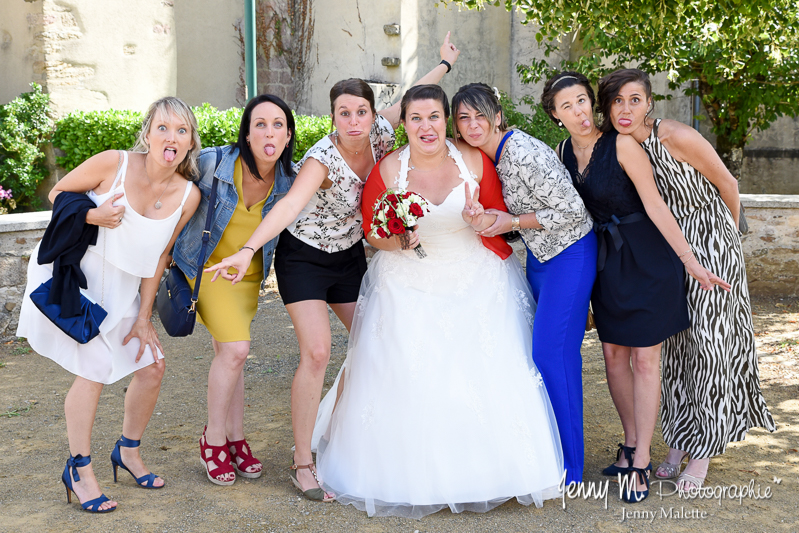 photo fun griamces mariée avec les copines