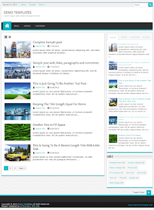 JPStation Turquoise Blogger Template