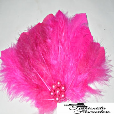 pink feather fascinator party attire Nairobi Kenya
