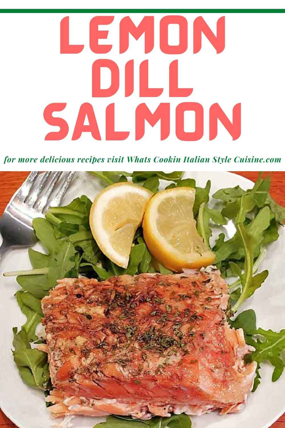pin for later lemon dill salmon with butter sauce