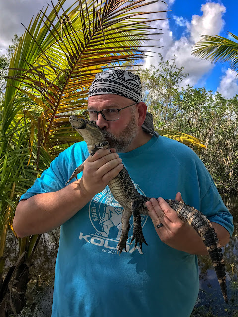 Bubba Harmon with an alligator