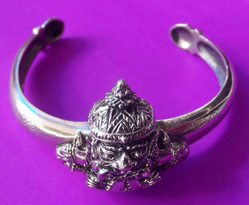 Real Amulets Thai Real Amulet Magic Bangle Pra Rahu Lp