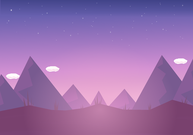 purple mountains 2d