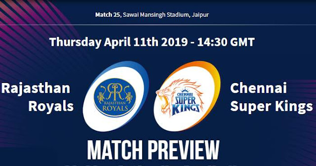 VIVO IPL 2019 Match 25 RR vs CSK Match Preview, Head to Head and Trivia