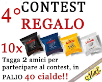 Logo Vinci gratis 40 cialde Giusto Caffè : come partecipare