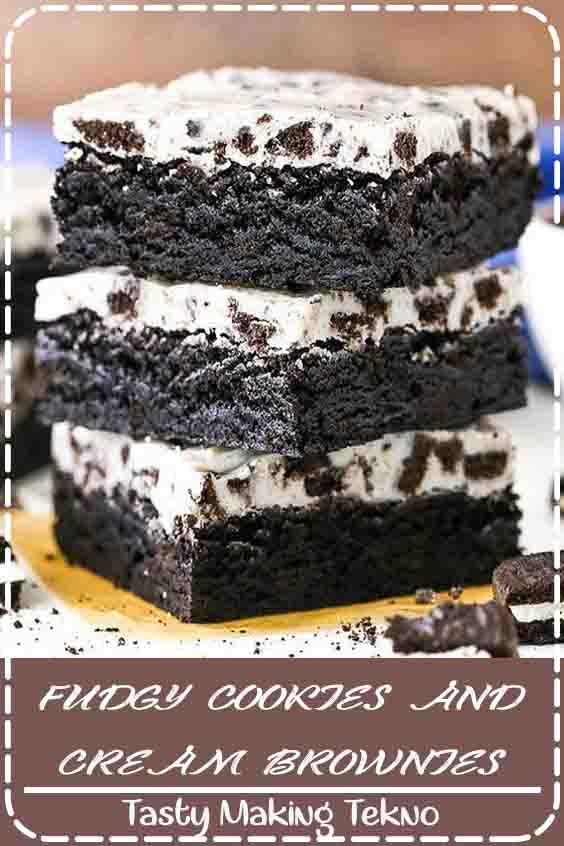 My Fudgy Cookies and Cream Brownies have the best Oreo flavor and were a HUGE hit when I made them. These rich brownies are topped with an Oreo-filled white chocolate topping, and they're simple to prepare!