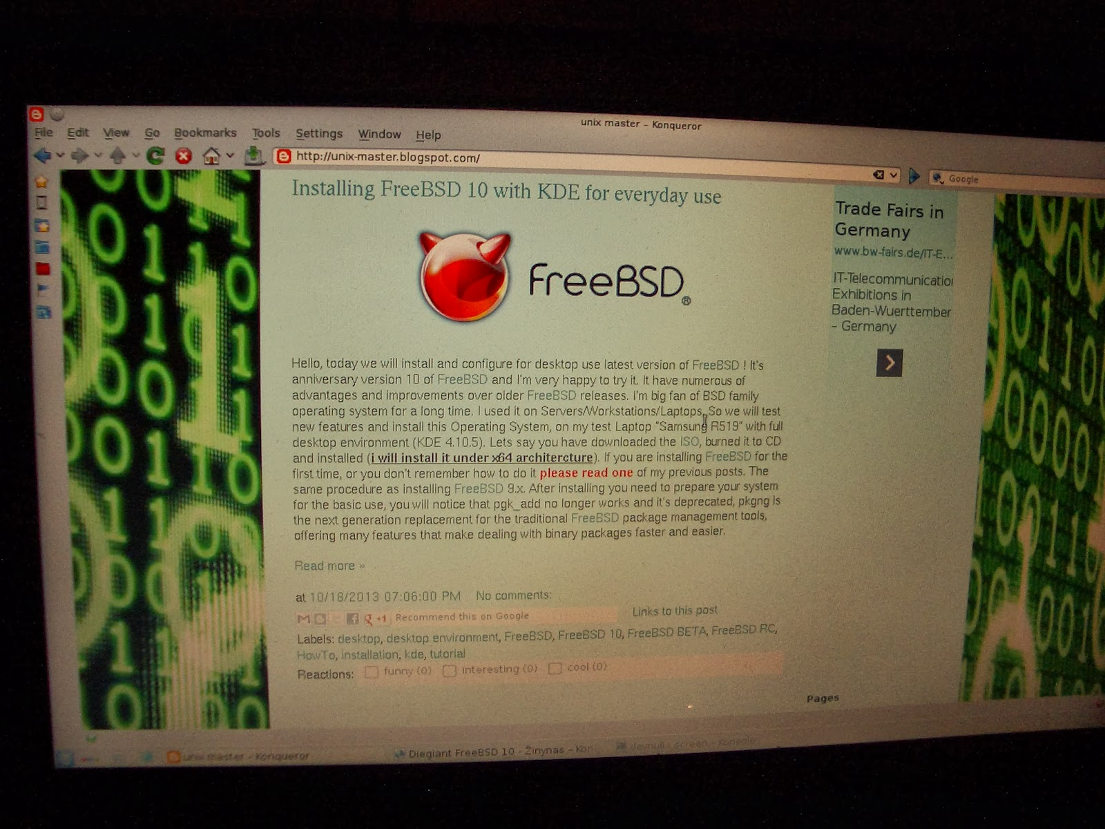 Installing FreeBSD 10 with KDE for everyday use - Unix Master