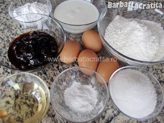 Prajitura cu dulceata - toate ingredientele necesare pentru a prepara reteta
