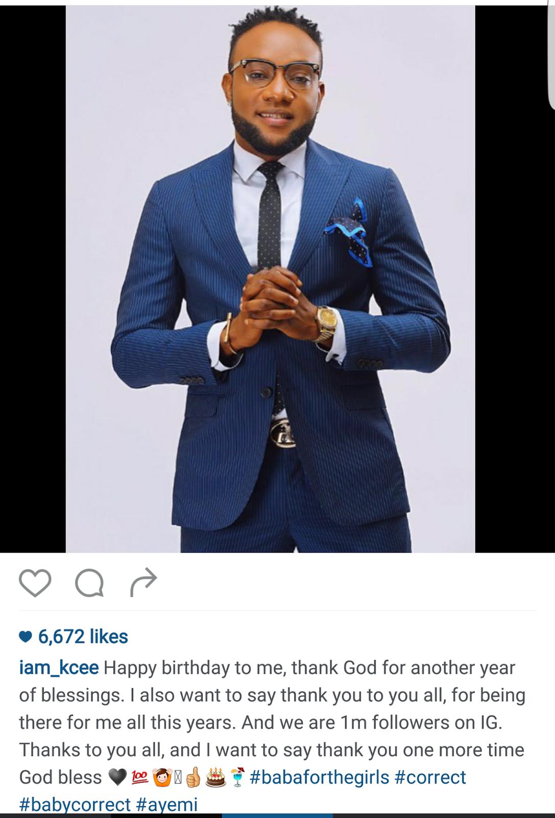 Screenshot_2016-04-18-00-06-26-1 Kcee celebrates his birthday with 1m IG followers