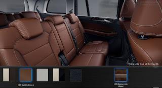 Nội thất Mercedes GLS 400 4MATIC 2017 màu Nâu Saddle 224