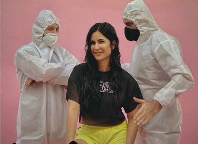 Katrina Kaif is blissful as she continues work; Actress imparts PHOTO to her group in PPE packs