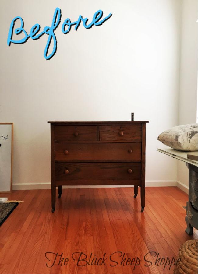 Oak dresser before.