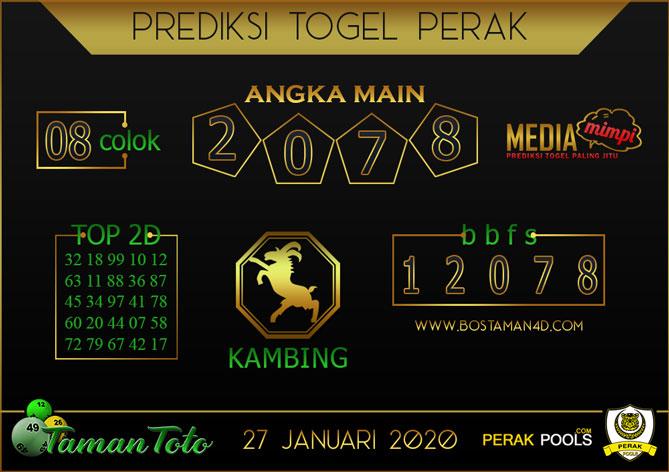 Prediksi Togel PERAK TAMAN TOTO 27 JANUARI 2020