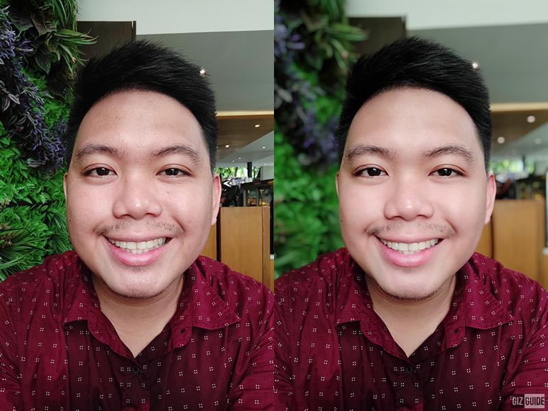 Normal vs face beauty