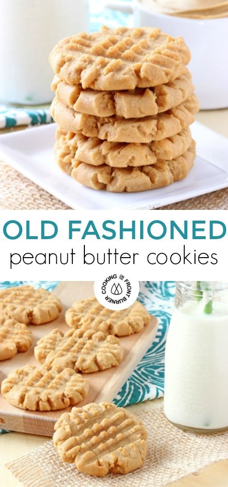 Old Fashìoned Peanut Butter Cookìes