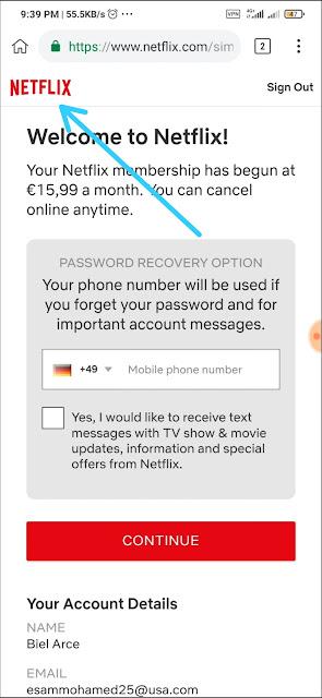 انشاء حسابات Netflix بريميوم مجانا