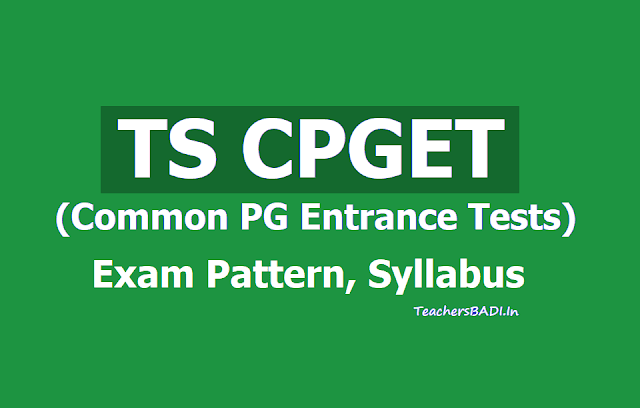 TS CPGET Exam Pattern, Syllabus