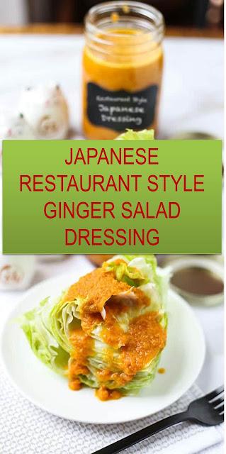 THE BEST JAPANESE RESTAURANT STYLE GINGER SALAD DRESSING