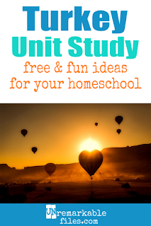 This country of Turkey unit study is packed with activities, crafts, book lists, and recipes for kids of all ages! Make learning about Turkey in your homeschool even more fun with these free ideas and resources. #turkey #turkish #homeschool #learn