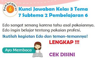Kunci Jawaban Kelas 3 Tema 7 Subtema 2 Pembelajaran 6 www.simplenews.me