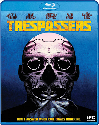 Cover art for Scream Factory's Blu-ray of TRESPASSERS!