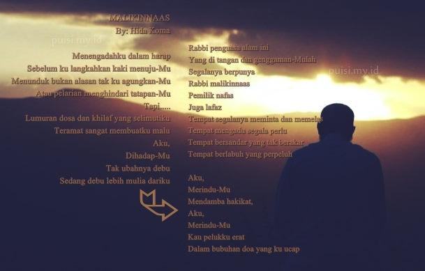 Puisi Religi siraman Rohani berjudul Malikinnaas