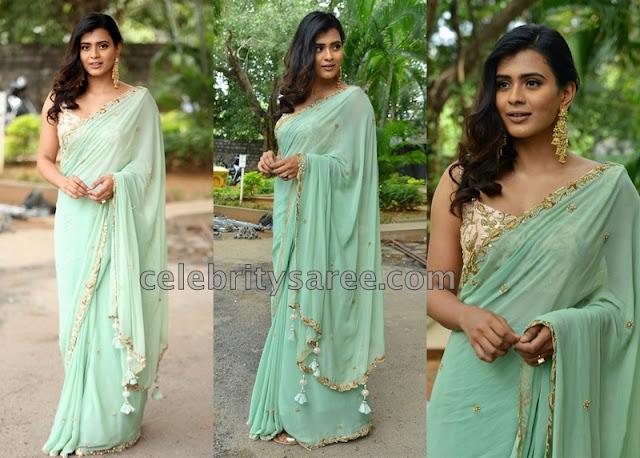 Heebha Patel Georgette Saree