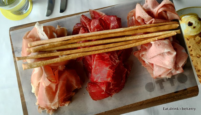 Otto's charcuterie platter has ortadella, San Daniele proscuitto, wagyu bresaola, hand-rolled grisini