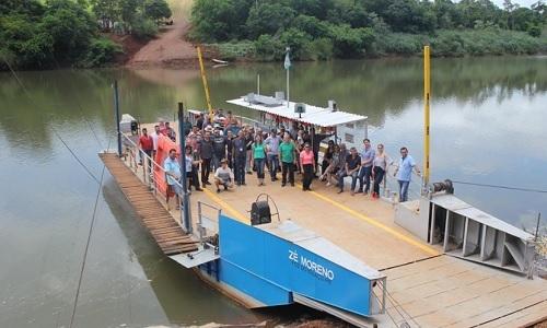 Campina da Lagoa: Após três anos balsa volta a funcionar