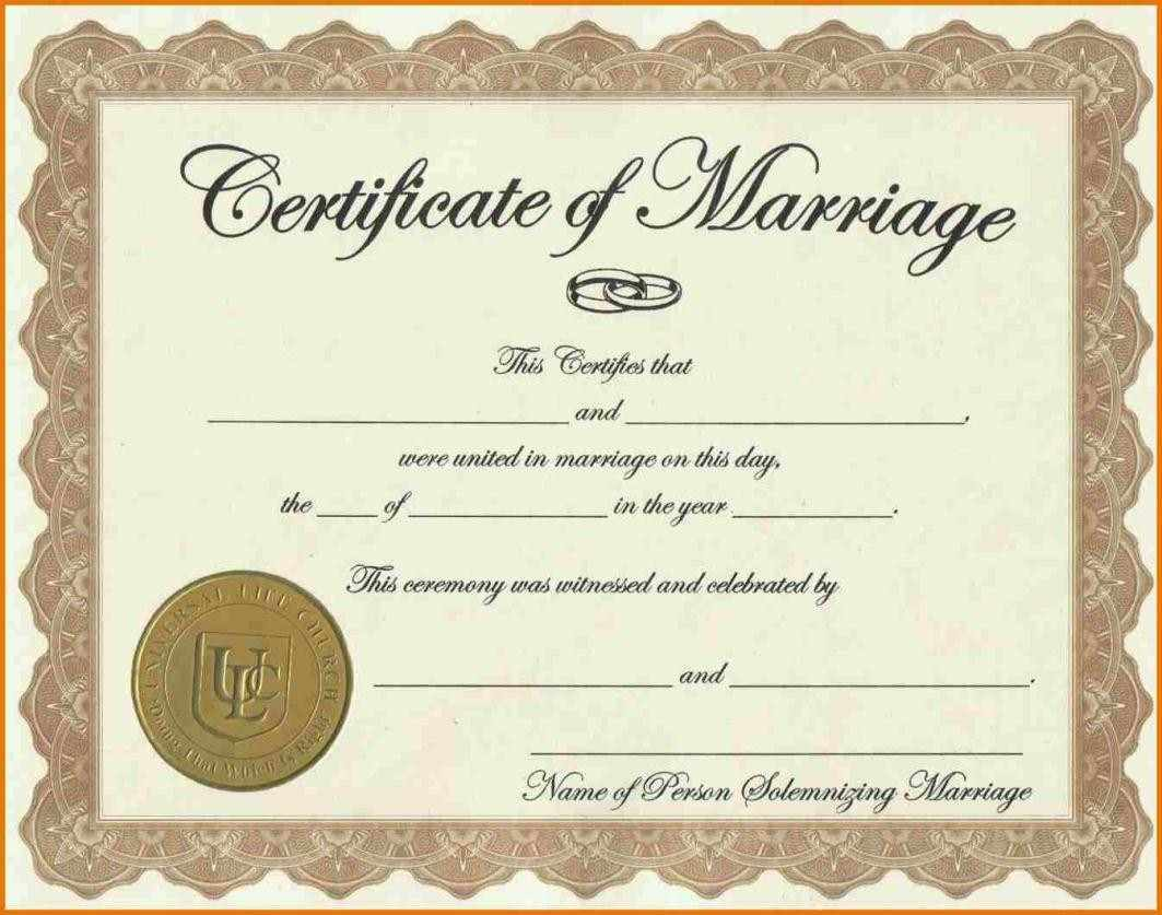 It's just an image of Crazy Free Marriage Certificate Template Word