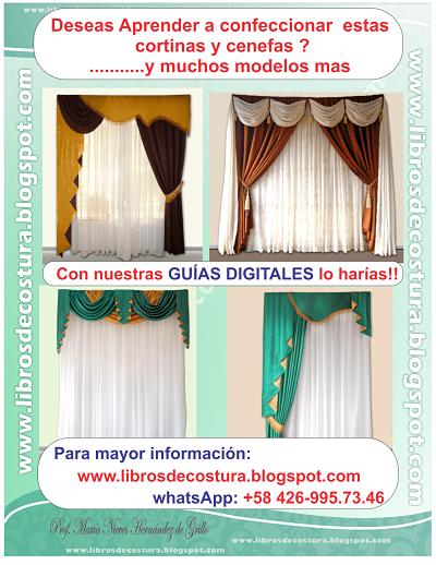 como elaborar cortinas y cenefas