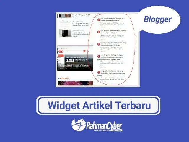 cara memberi widget artikel terbaru blogger
