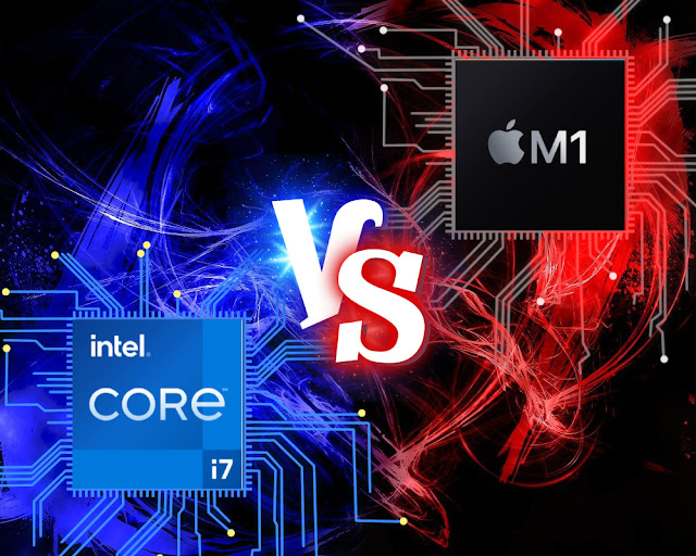 Apple M1 Chipset vs Intel i7 11th Gen Chipset